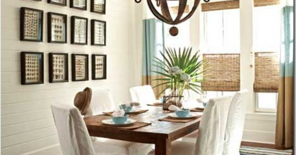 "Country Chic Farmhouse Dining Room. Traditional Home Magazine, ""Kaleidoscope By the Sea,"""