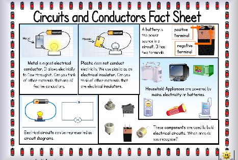 Electrical Circuit Conductors : Here s a simple fact sheet on circuits and conductors