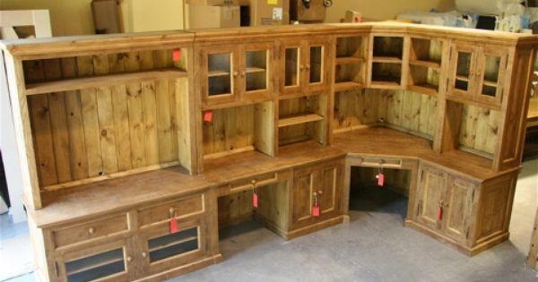 Custom L Shaped Pine Desk System Country Willow Furniture Custom Furniture Pinterest