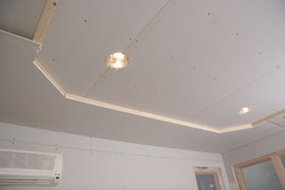 Tray Ceiling Installation For Homeowners Extreme How To Ceiling Installation Tray Ceiling Ceiling