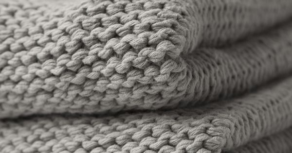 grey knit throw blanket