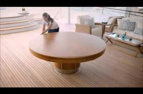 Expandable round dining table amazing design for Amazing expandable round dining table