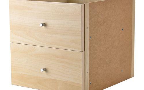 kallax casier 2 tiroirs brun noir craft supplies tes and fit. Black Bedroom Furniture Sets. Home Design Ideas