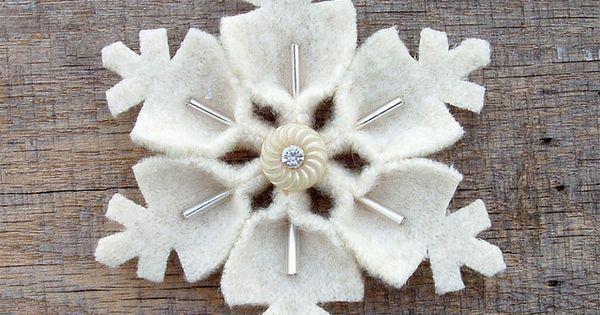 snowflake felt ornament