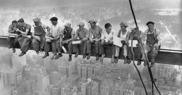 These guys are cool. - Charles C. Ebbets, Lunch atop a Skyscraper,