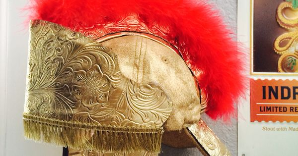 how to make a roman helmet paper mache