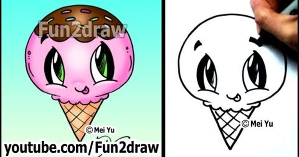 Ice Cream - Yummy Dessert - How to Draw Easy Tutorial ...