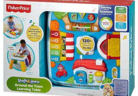 Laugh /& Learn Around the Town Learning Table Lights Songs Interactive Playset