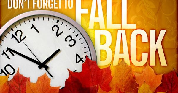 Fall Back Time Change Clip Art Its that time of year