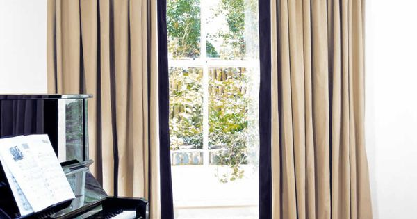 Curtains With Leading Edge And Bottom Borders Curtains