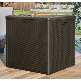 Suncast 27 5 In L X 26 75 In 60 Gallon Java Deck Box At Lowes Com