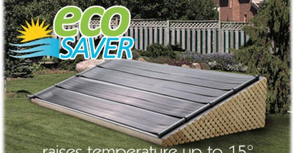 Eco saver solar pool heater for above ground pools solar for Above ground pool siding ideas