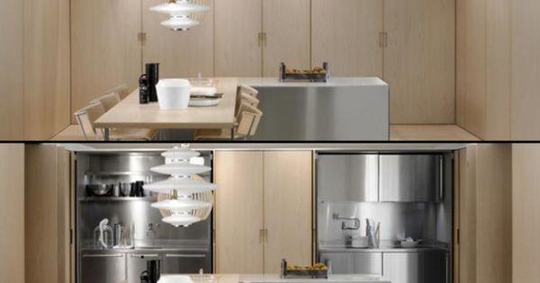 une cuisine cach e dans un placard cocinas y hogar. Black Bedroom Furniture Sets. Home Design Ideas