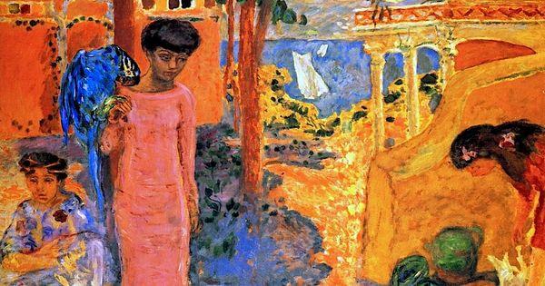 Woman with parrot 1910 pierre bonnard art experience for Pierre bonnard la fenetre