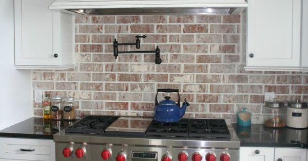 Brick Backsplashes Rustic And Full Of Charm Stove
