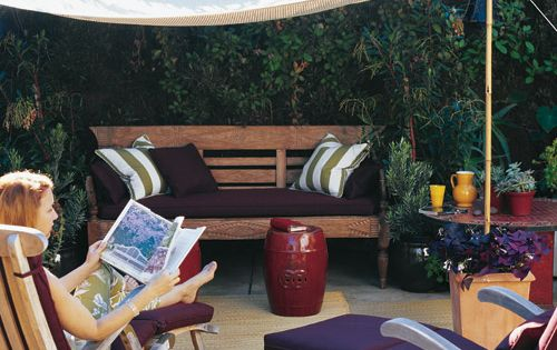 Create A Slice of Shade by marthastewart: A simple canopy which goes