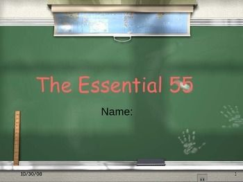 Essential 55 Student Activity Essential 55 Student Activities