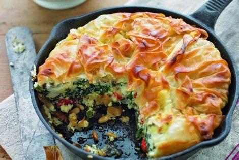 One-pan feta filo tart | Receta | Recetas, Bellisima y Comida