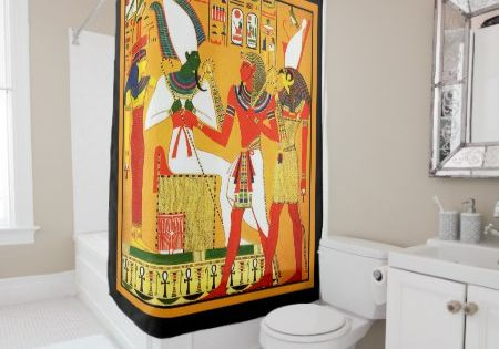 Osiris And Horus Shower Curtain Tap Click To Personalize And Buy
