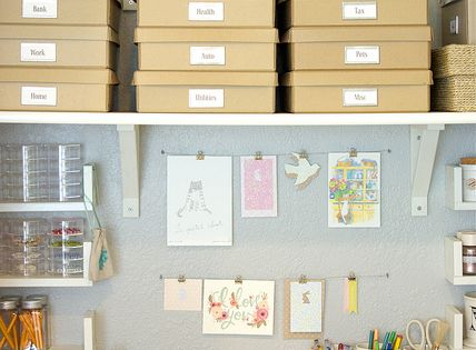 organized office space. I think this would be really cute idea for