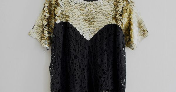 sequins lace top.