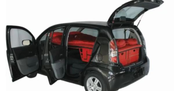 Swissroombox In A Compact Car Small Cars Car Camping Camping Box