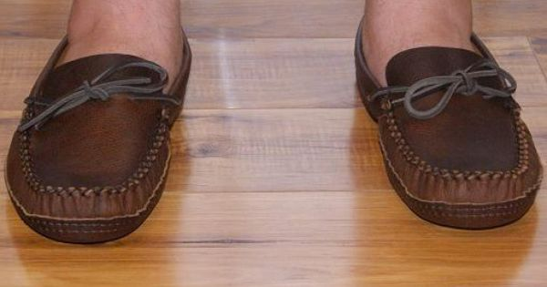 Mens Leather Moccasins Wide 1461 | Cuero
