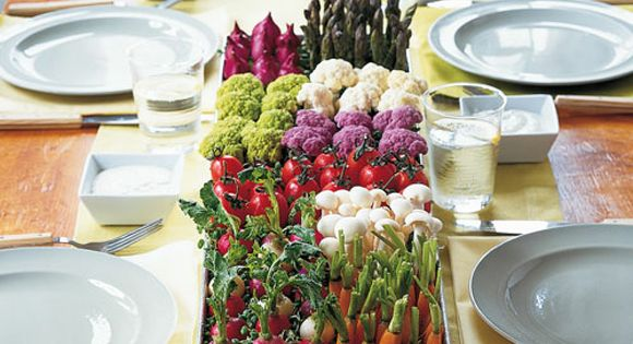 Garden Party Ideas Martha Stewart Crudite Centerpiece