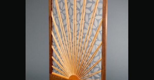 Sun And Leaf Room Divider Screen For The Home