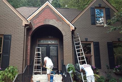 Residential And Commercial Painting Polo Painting Painted Brick Exteriors Painted Brick House Brick Exterior House