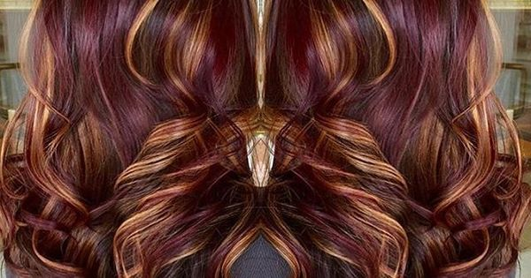 Red Violet Base With Copper Highlights Winter Inspiration