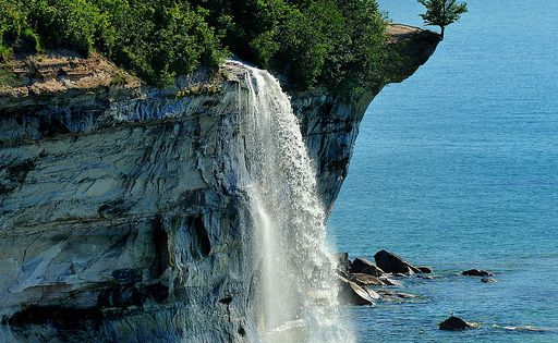 Natural Beauty of a Cascading Waterfall!