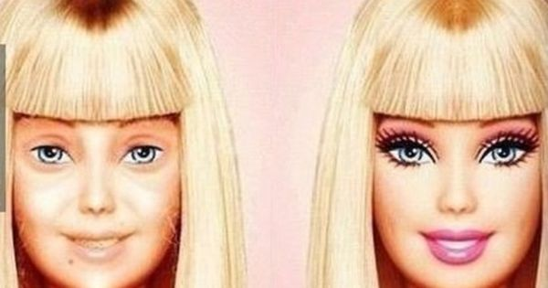 @Lauren Flickinger This is why I wear make up :) Barbie without