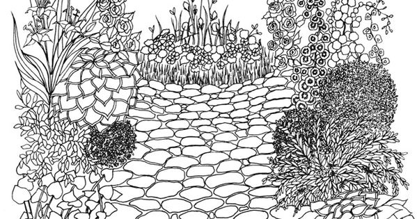 Creative Haven Whimsical Gardens Coloring Book COLORING