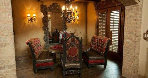 Donna Moss Designs Decorates Dallas Pinterest Moss Room And Tuscan Decor