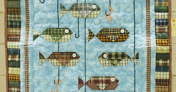 Homespun Fish Quilt 23 X 27 Quot By Judy Hartzler Ohio