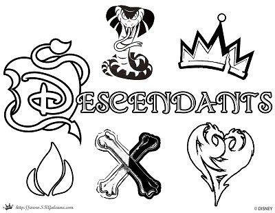 Free Disney Descendants Printables And Activities Descendants Coloring Pages Apple Coloring Pages Disney Descendants