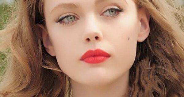 Natural makeup bold lip Makeup idea