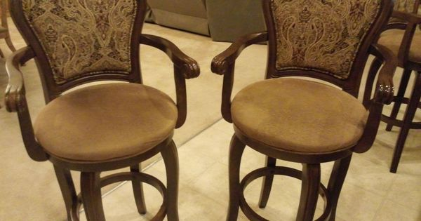High end swivel bar stools with arms regal kitchen for High end counter stools