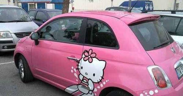 Hello Kitty Hello Kitty Car Hello Kitty Fiat 500