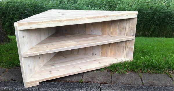 Tv meubel steigerhout google zoeken inrichting for Steigerhout tv meubel maken