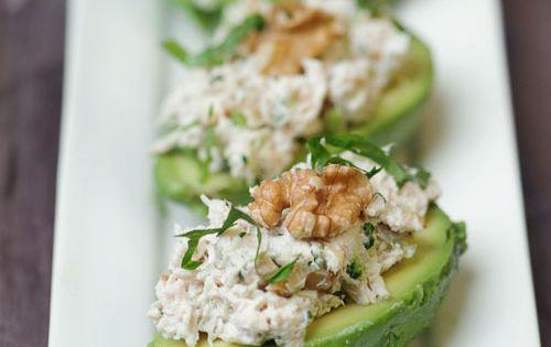Avocado, Chicken & Walnut Salad yummy:)