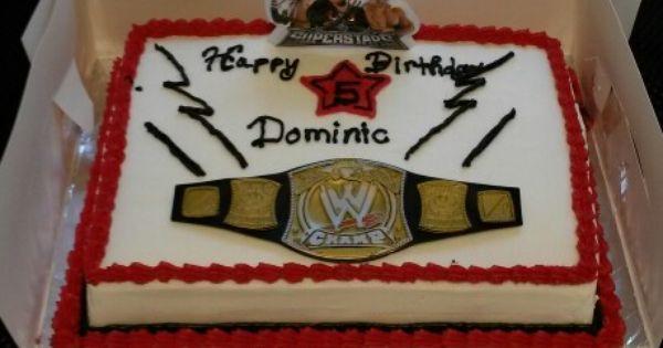Wwe John Cena Birthday Cake Birthday Ideas Pinterest