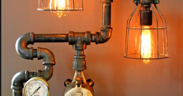 20 interesting industrial pipe lamp design ideas diy