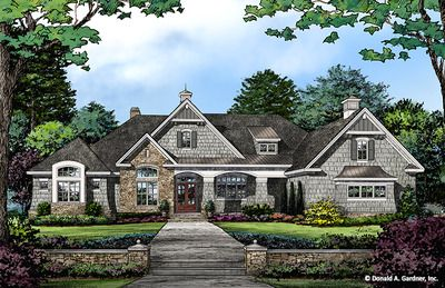 House Plan The Roseburg By Donald A Gardner Architects French Country House Plans New House Plans Open Concept House Plans