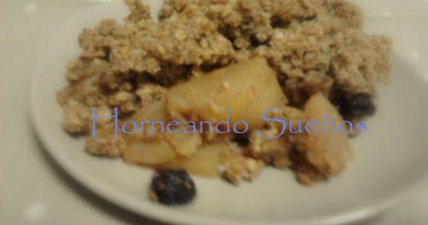 Crumble Integral De Manzana Peras Y Avena Manzana Pera Recetas Dulces