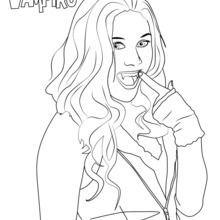 Dibujo Para Colorear Daisy De Chica Vampiro Al Colorear El Dibujo Daisy De Chica Vampiro Recuerda Los Colores Origina Vampiro Dibujo Vampiro Ninas Vampiro