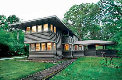 a frank lloyd wright home in highland park frank lloyd. Black Bedroom Furniture Sets. Home Design Ideas