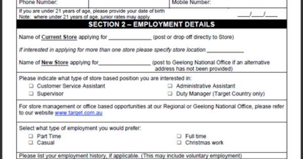 Target Job Application Form Target Application Online