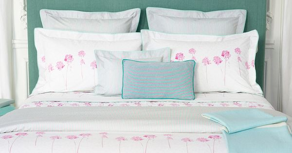 Inspirations Yves Delorme Spring Summer 2017 Collection Rivages Bed Linens Bed Linens Luxury Print Bedding Designer Table Decor